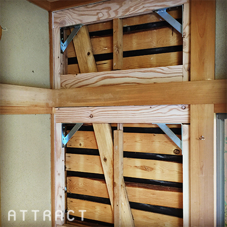 木造住宅の耐震補強工事