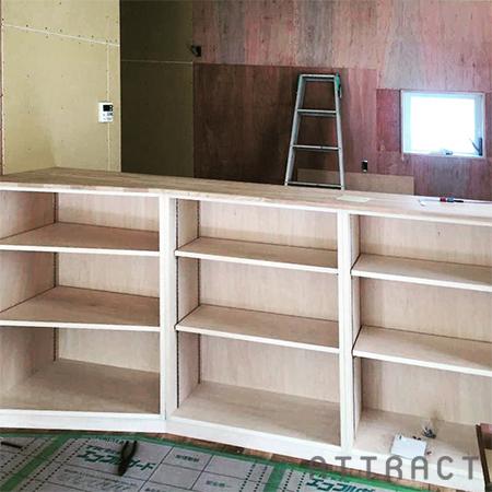 オーダーの作り付け家具01