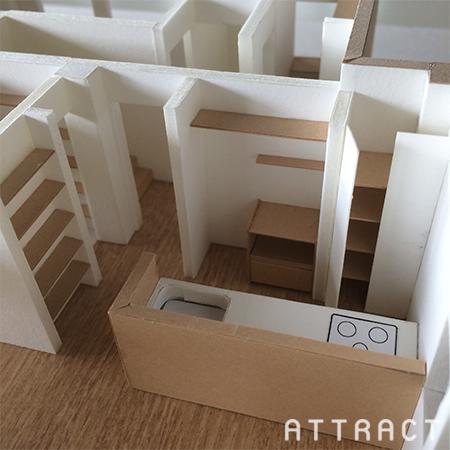 泉南市一戸建てリノベーション提案模型02