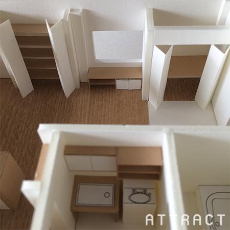 泉南市一戸建てリノベーション提案模型03