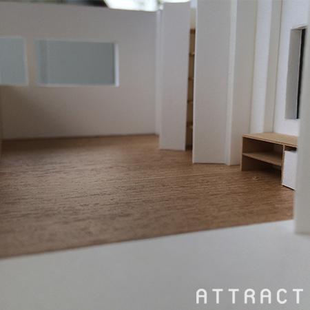 泉南市一戸建てリノベーション提案模型05