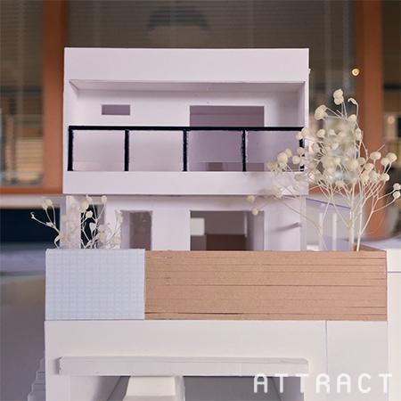 吹田市新築工事提案模型_01