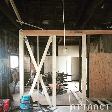 豊崎町長屋の改修工事01